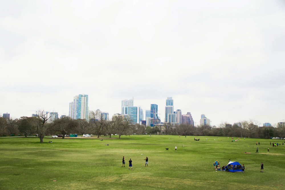 Austin's Zilker Park livens as the warm weather comes, drawing people in from all over the city to enjoy springtime in its fields.