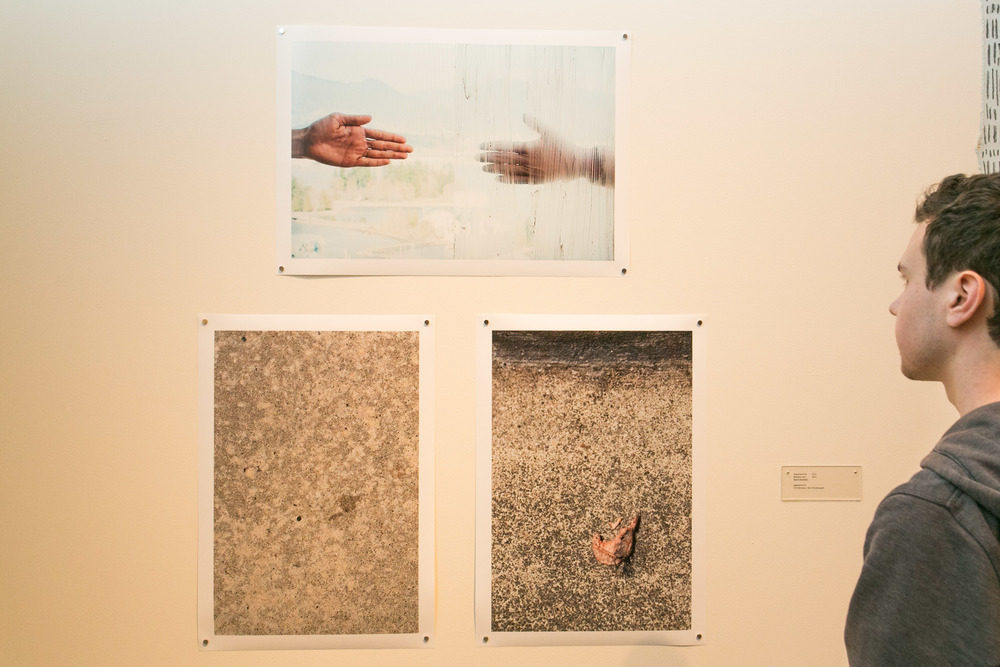 Guarantee Free (2015), and Remains I + II (2015) by Bianca Buentello.