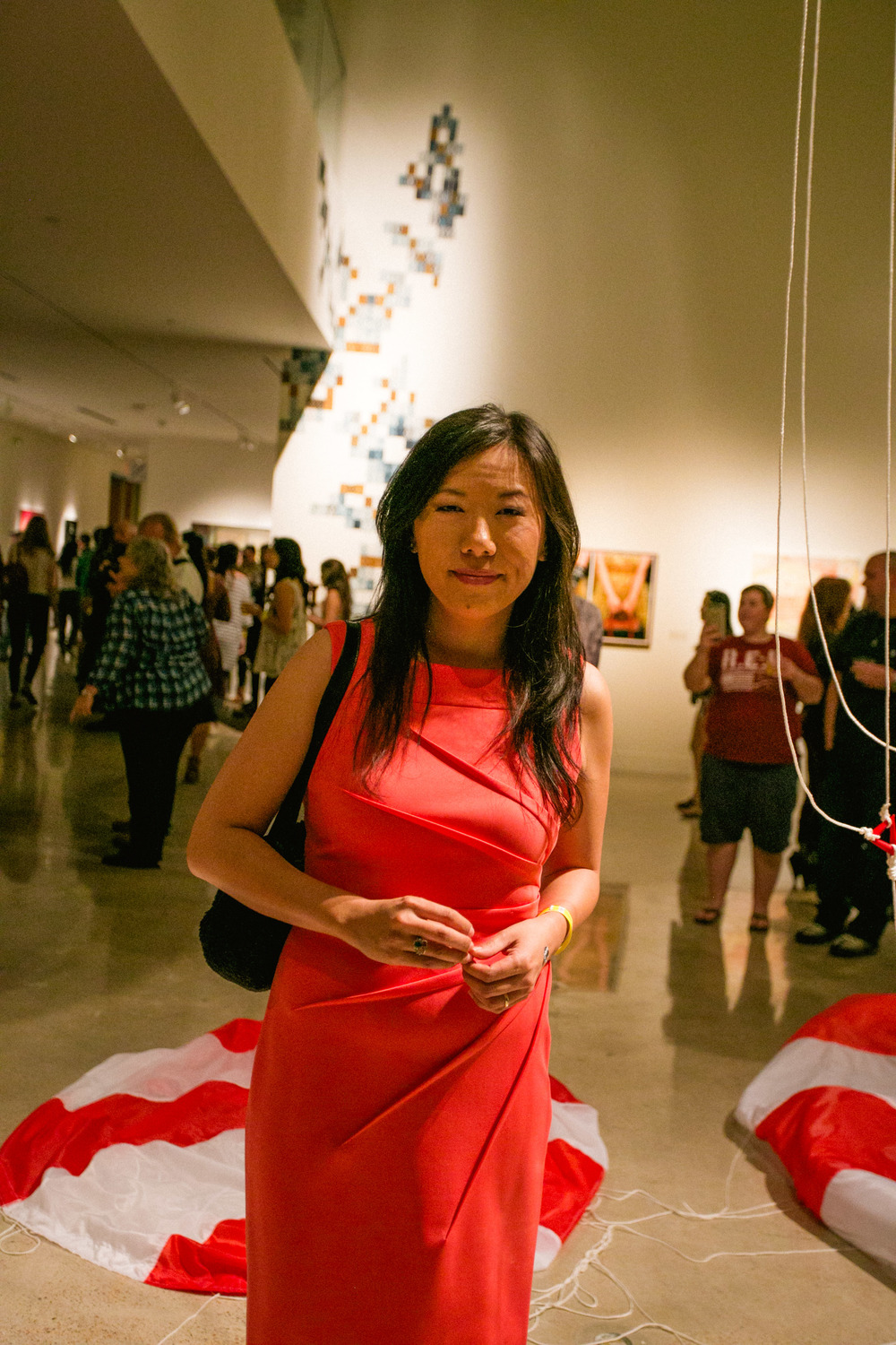 Ann Yin, Studio Art Major, with a focus in sculptures.      Her works are inspired by science, technology, engineering and math, human impact on the natural world and climate change.