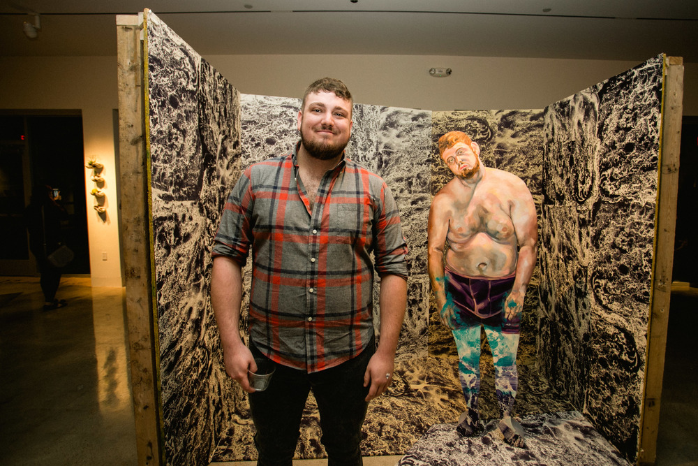 Josh Orsburn, Studio Art Major with a focus in printmaking and mixed media.    His works are inspired by interpersonal relationships and ideas about human interaction.