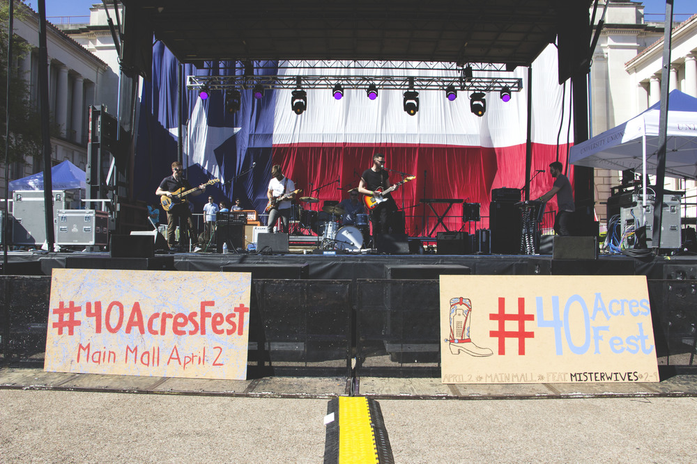 Strange Fiction performs on the main stage.
