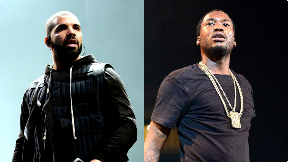 Drake (left) and Meek Mill (right).