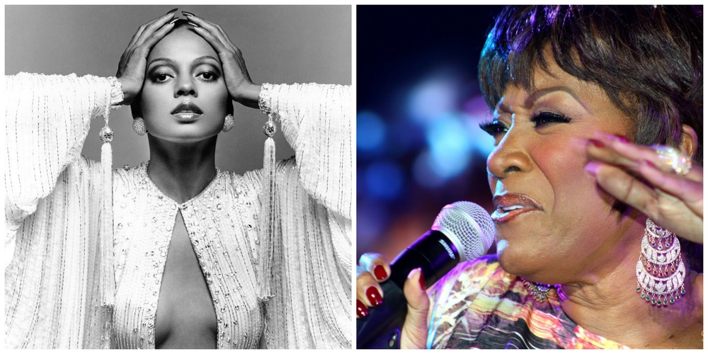 Diana Ross (left) and Patti LaBelle (right).
