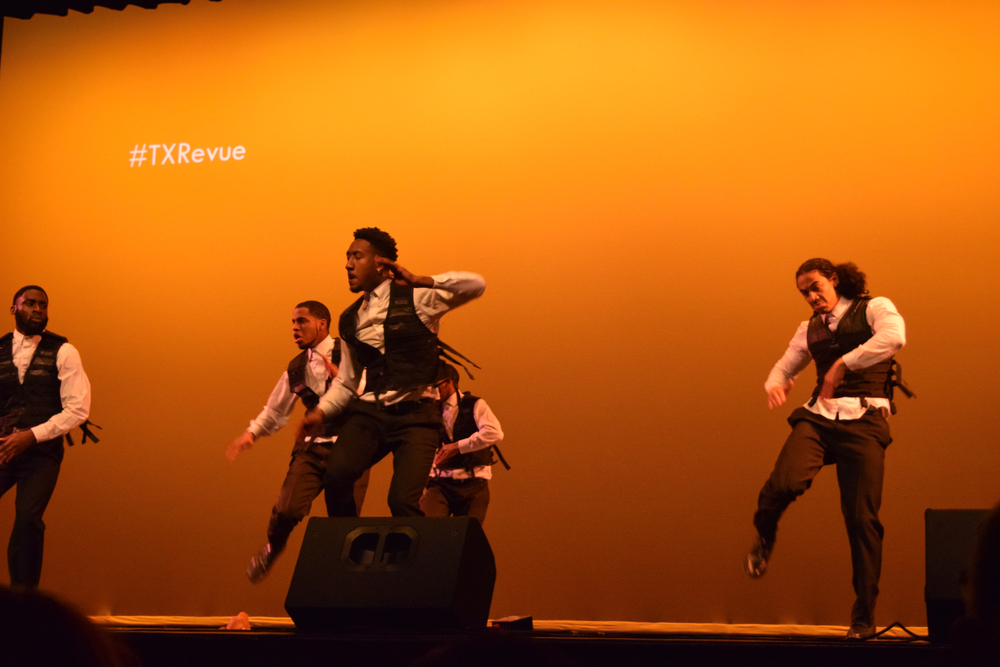 The crowd is speechless from Alpha Phi Alpha Fraternity's amazing step performance.