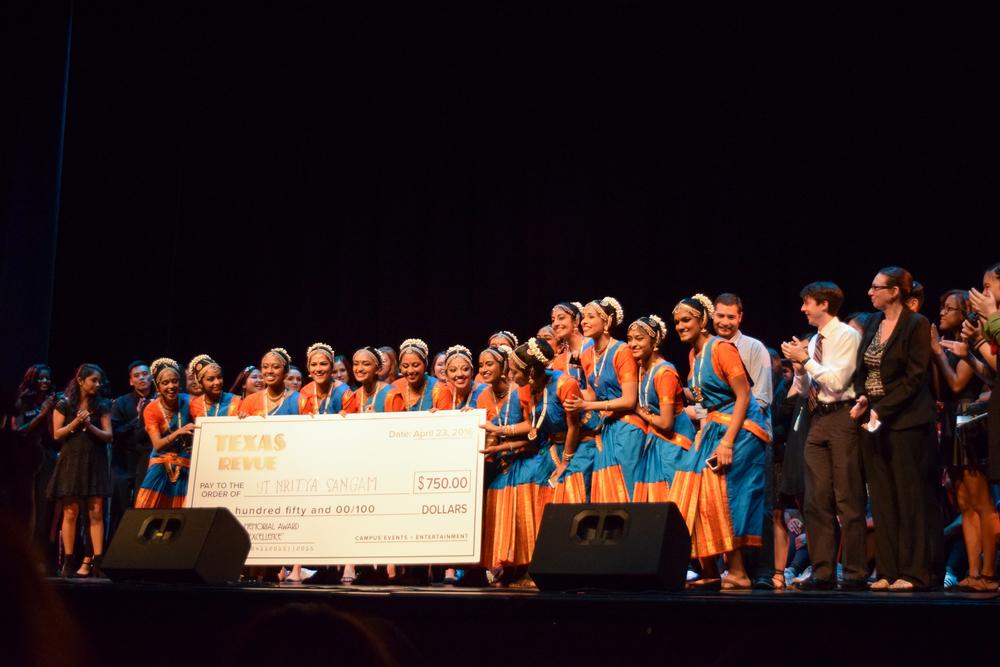 UT Nritya Sangam won $750 for their performance.
