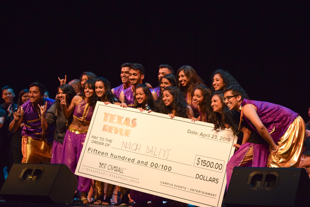 Texas Nach Baliye won the top prize of $1,500.