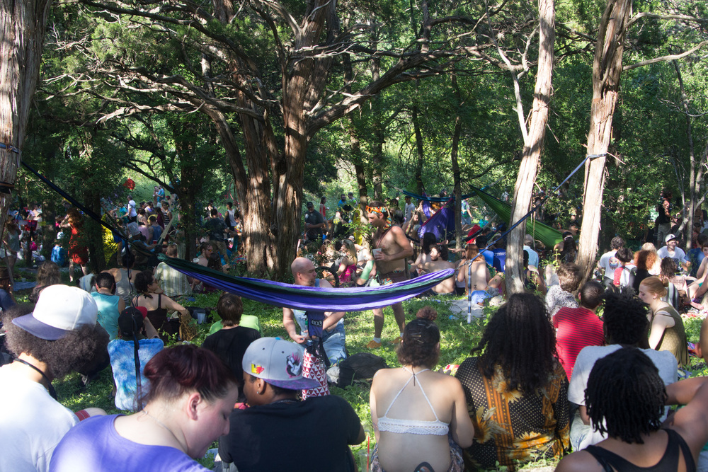 Pease Park was packed with festival goers to celebrate Eeyore's 53rd Birthday Party.