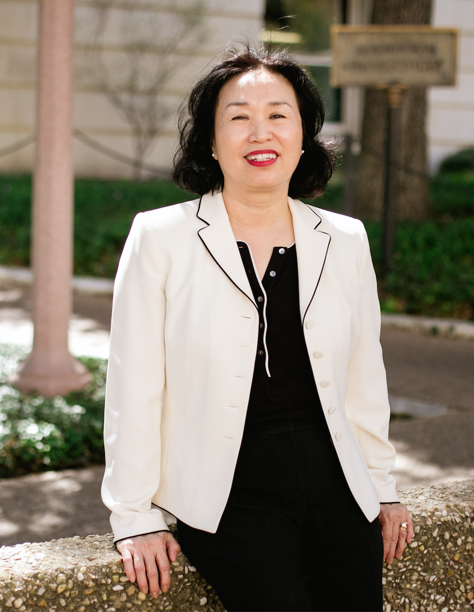 Professor Ockhee Bego, designer and lecturer in UT's Department Of Textiles And Apparel.