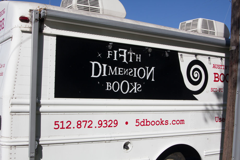 5D Books is a whimsical twist on the classic bookmobile.