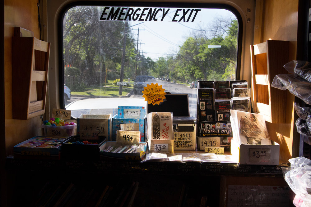 5D Books sells books, postcards, magnets and blackout poetry made by the owner herself.