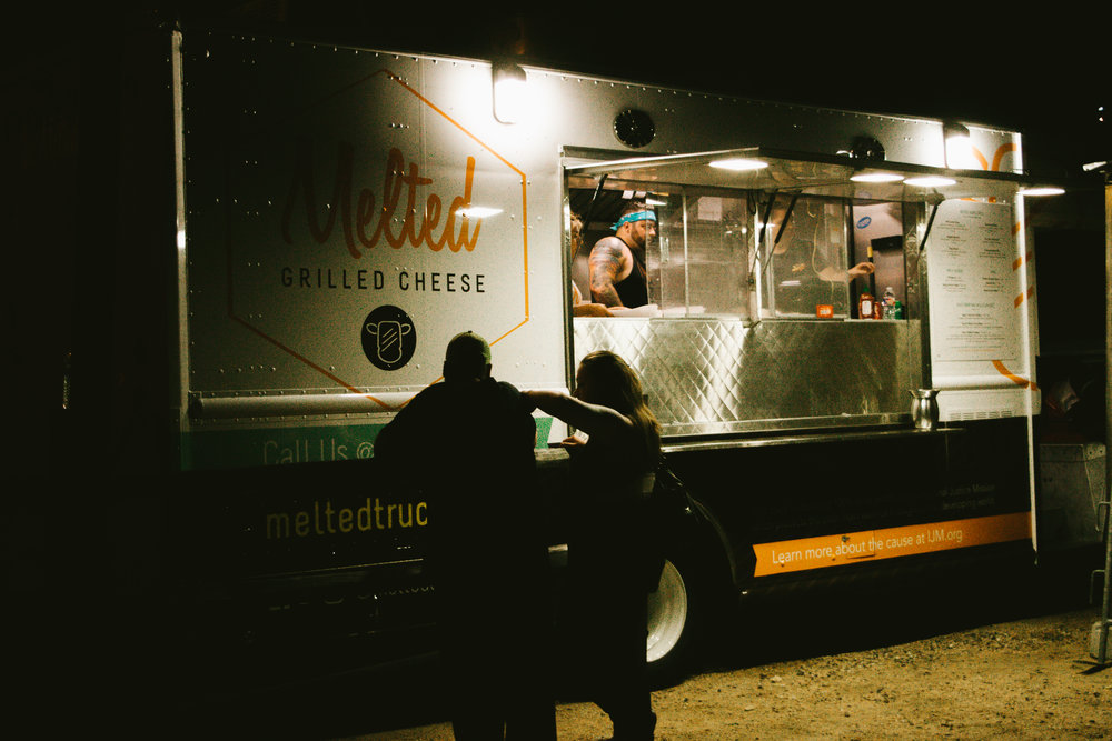 Event-goers grabbed a bite to eat at Melted Grilled Cheese after Backyard Story Night ended.