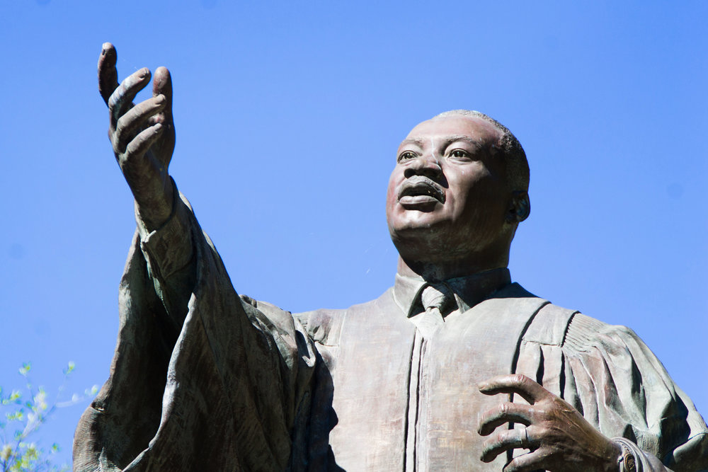 The statue of Martin Luther King Jr. is a symbol in the East Mall.
