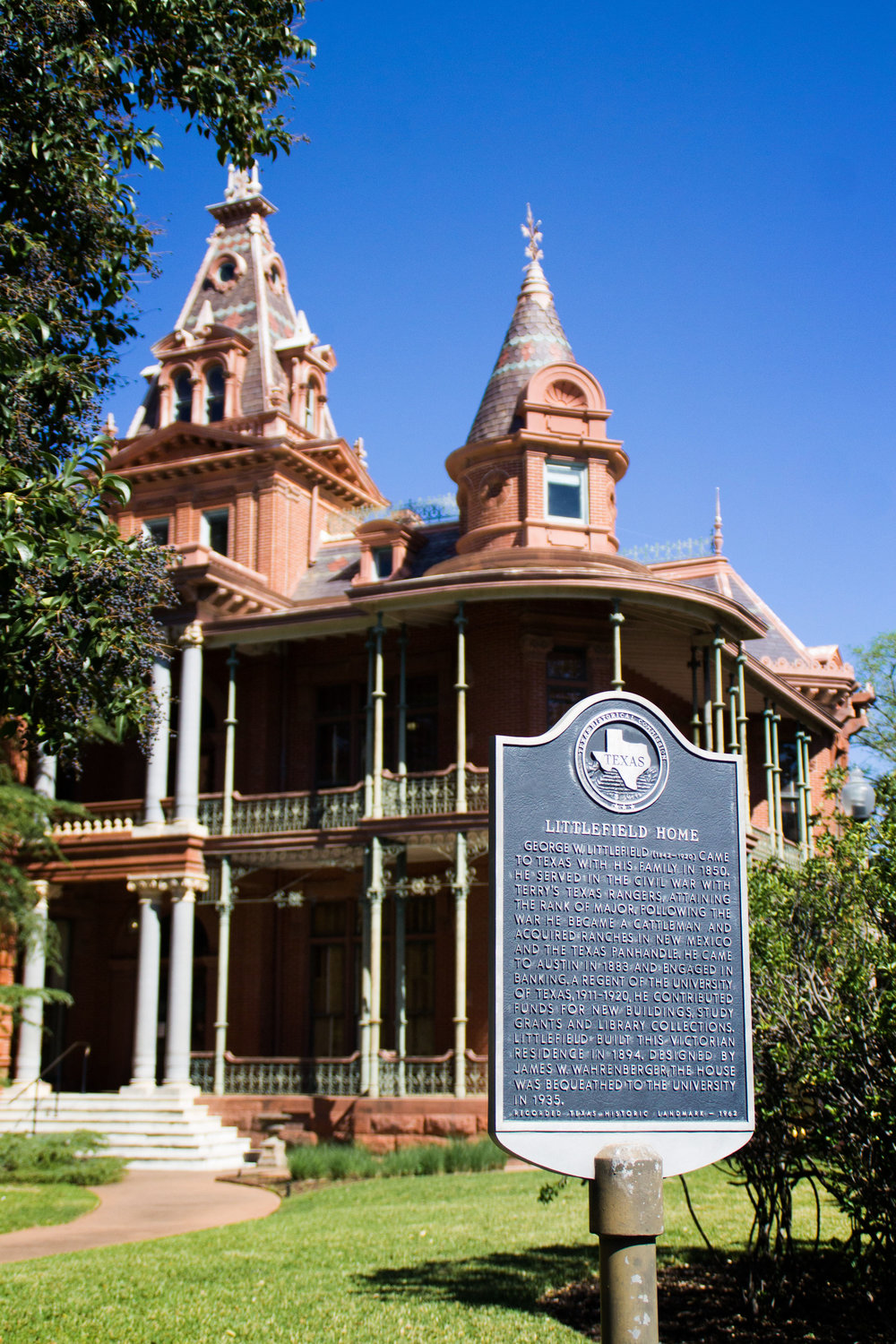 Littlefield Home was built by Littlefield in 1894 and was later given to UT.