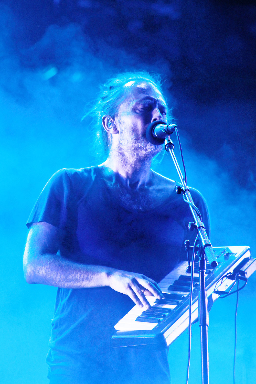 English rock band Radiohead performs.