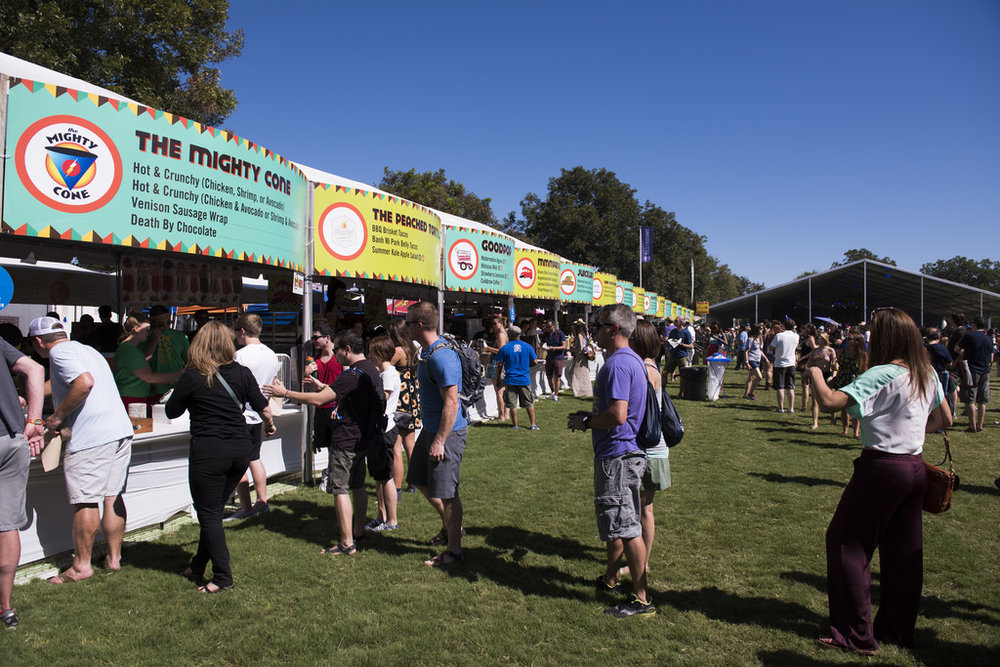 ACL features local restaurants and businesses at the ACL Eats Food Court. Photo courtesy of ACL Eats/Nick Simonite.