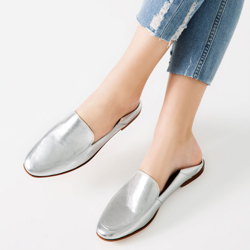 Zara: Laminated Leather Loafers