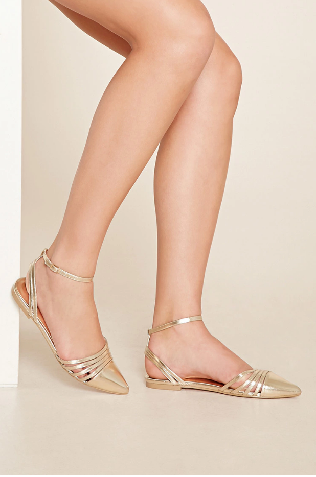 Forever 21: Pointed Metallic Flats