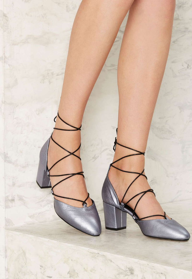 Nasty Gal: Intentionally Blank Hatter Leather Heel