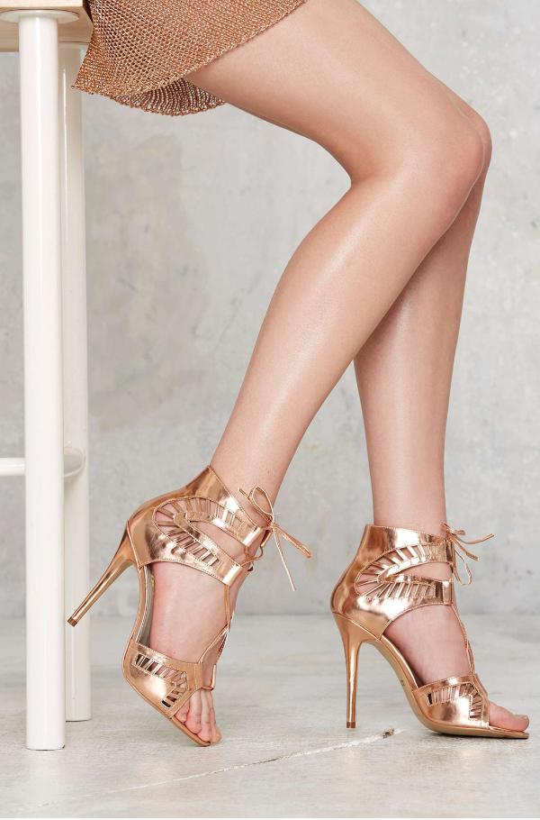 Nasty Gal: Lipstik Shoes Kara Cutout Heel