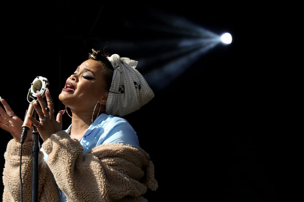R&B singer, Andra Day, sings out her heart for ACL Weekend Two.