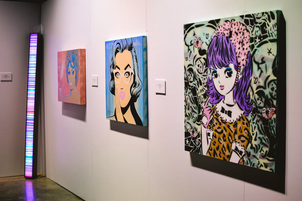 Artwork displayed by Hans Kotter, Niagara and Aiko Nakagawa.