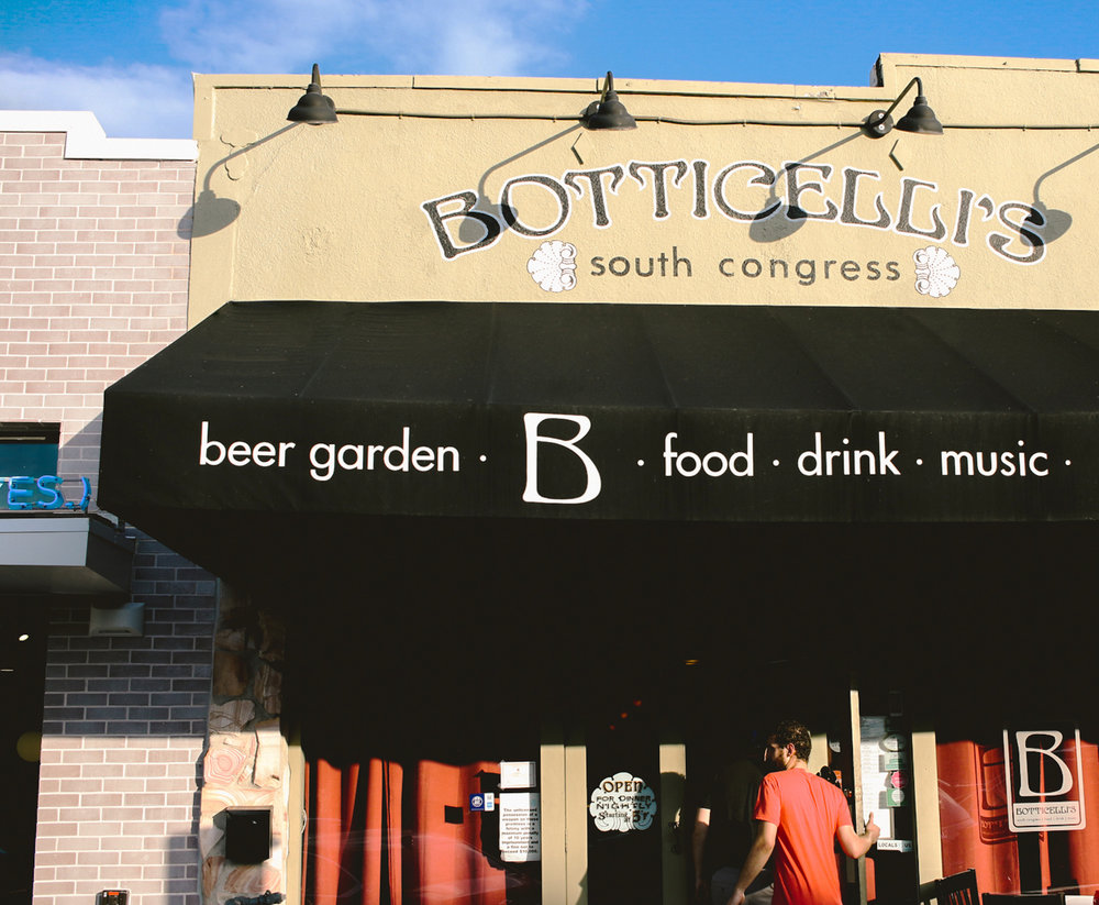Located on South Congress, Botticelli's is known for their traditional Italian courses and eclectic beer garden.