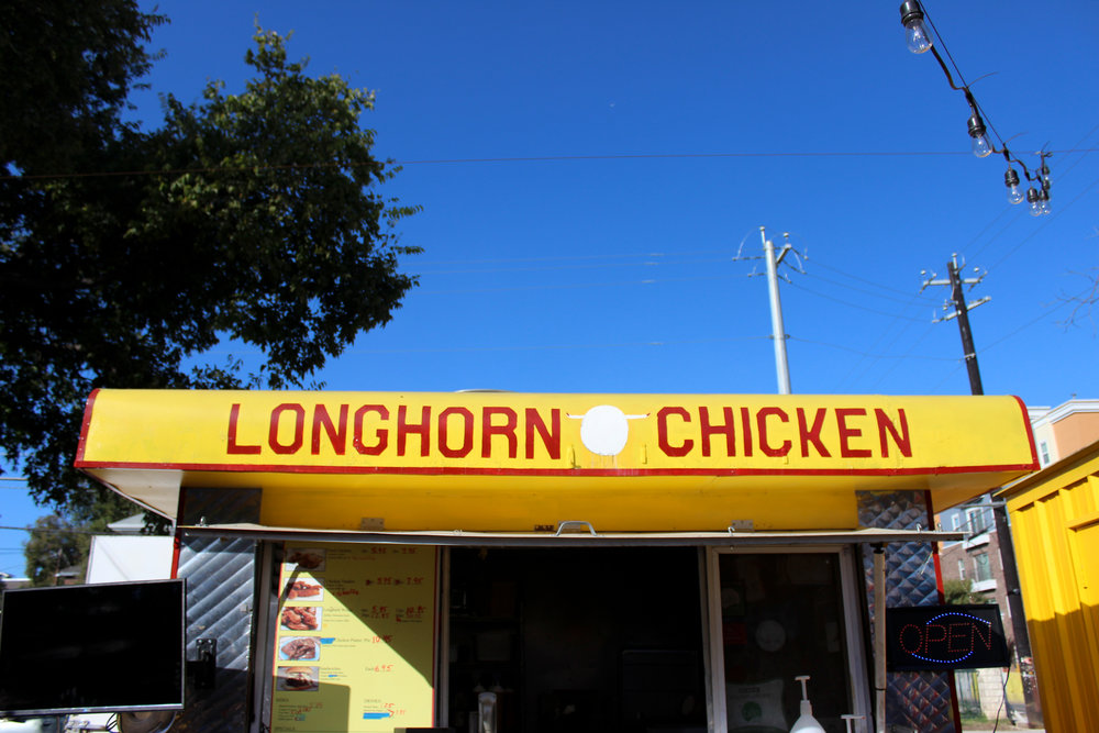 Longhorn Chicken specializes in chicken waffles and is located in West Campus.