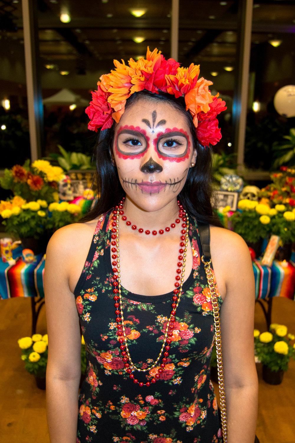 Jacqueline Morales member of MACC says Día de los Muertos encompasses unity and happiness.