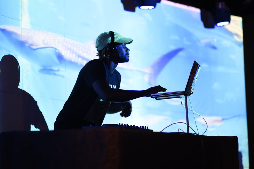 DJ Wavy Mega played the music during the concert and between sets.