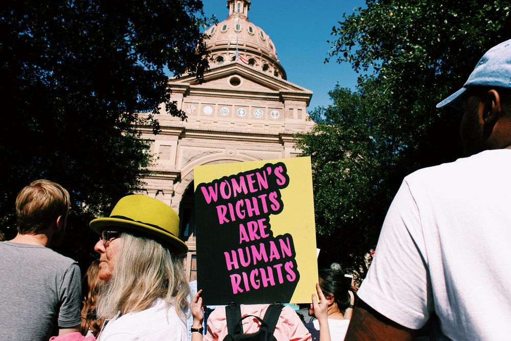 """Women's rights are human rights"" was a popular sign at the Women's March."