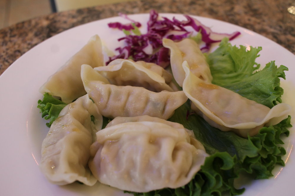 Dumplings are served at the 888 Pan Asian Restauraunt
