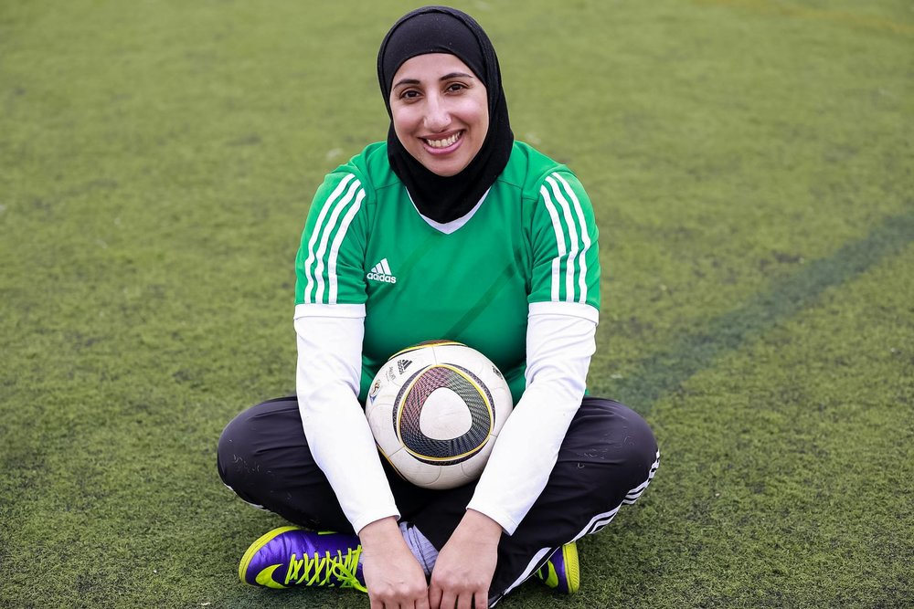 Shireen Ahmed is an avid footballer and played at the University of Toronto. Photo courtesy of Shireen Ahmed.