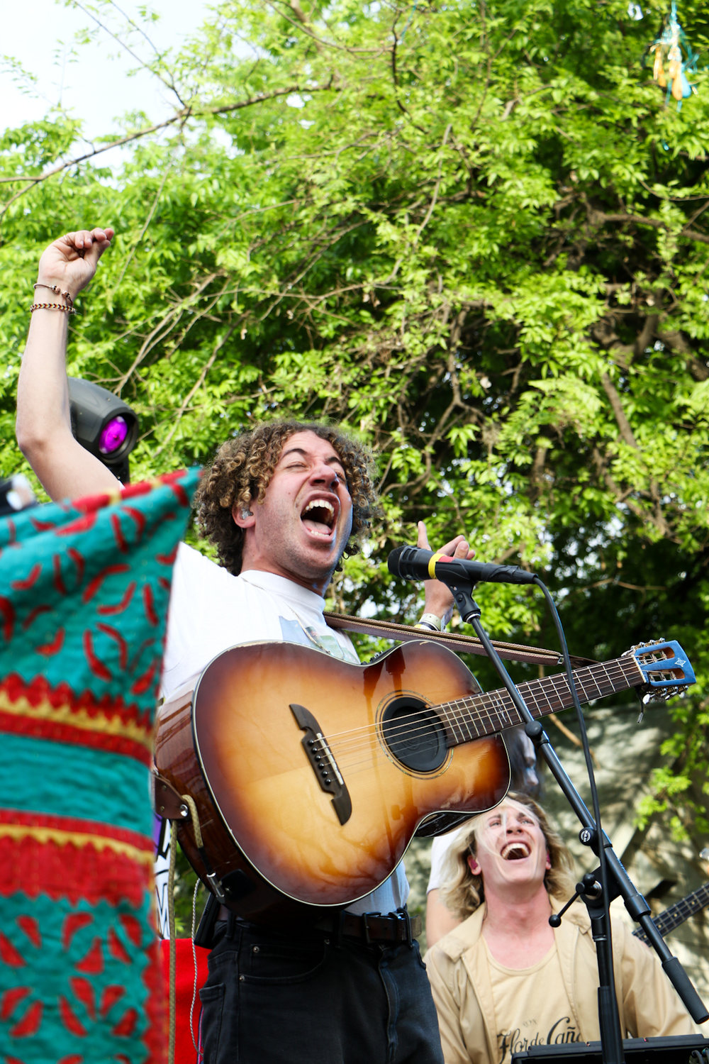 Duo from NYC, Lewis Del Mar, put on an exciting show at Feed The Beat.