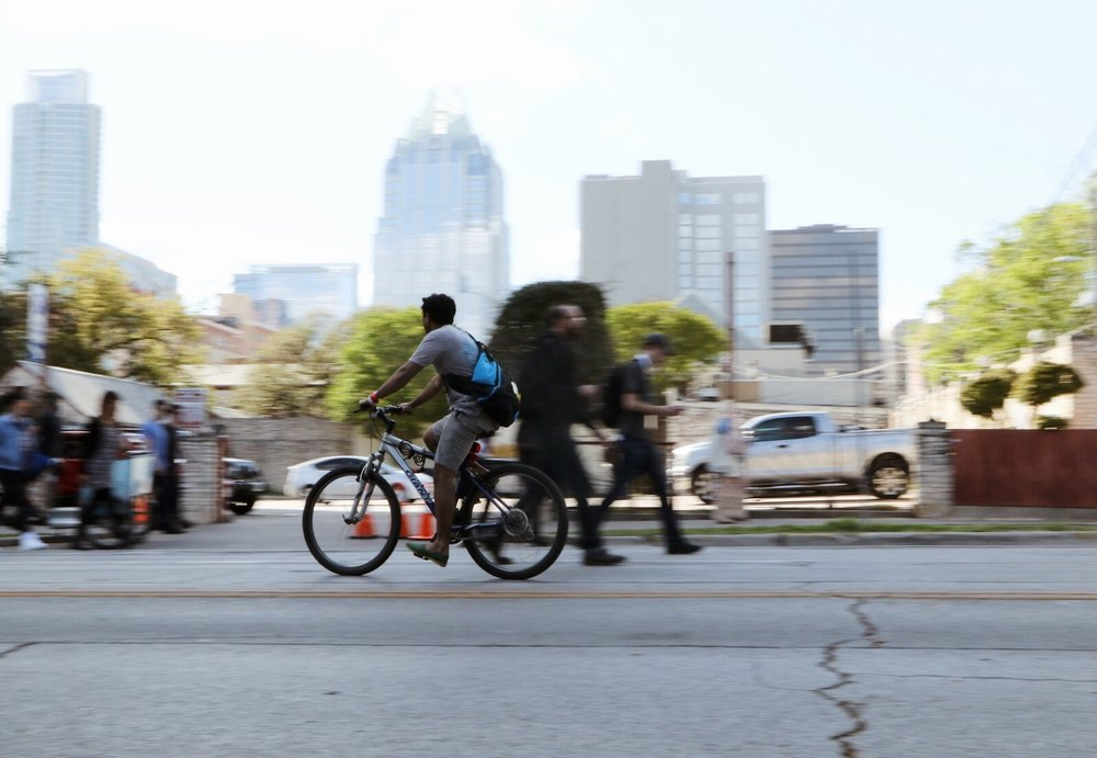 Chaos hit the streets of Austin during SXSW and biking turned out to be an important mode of transportation.