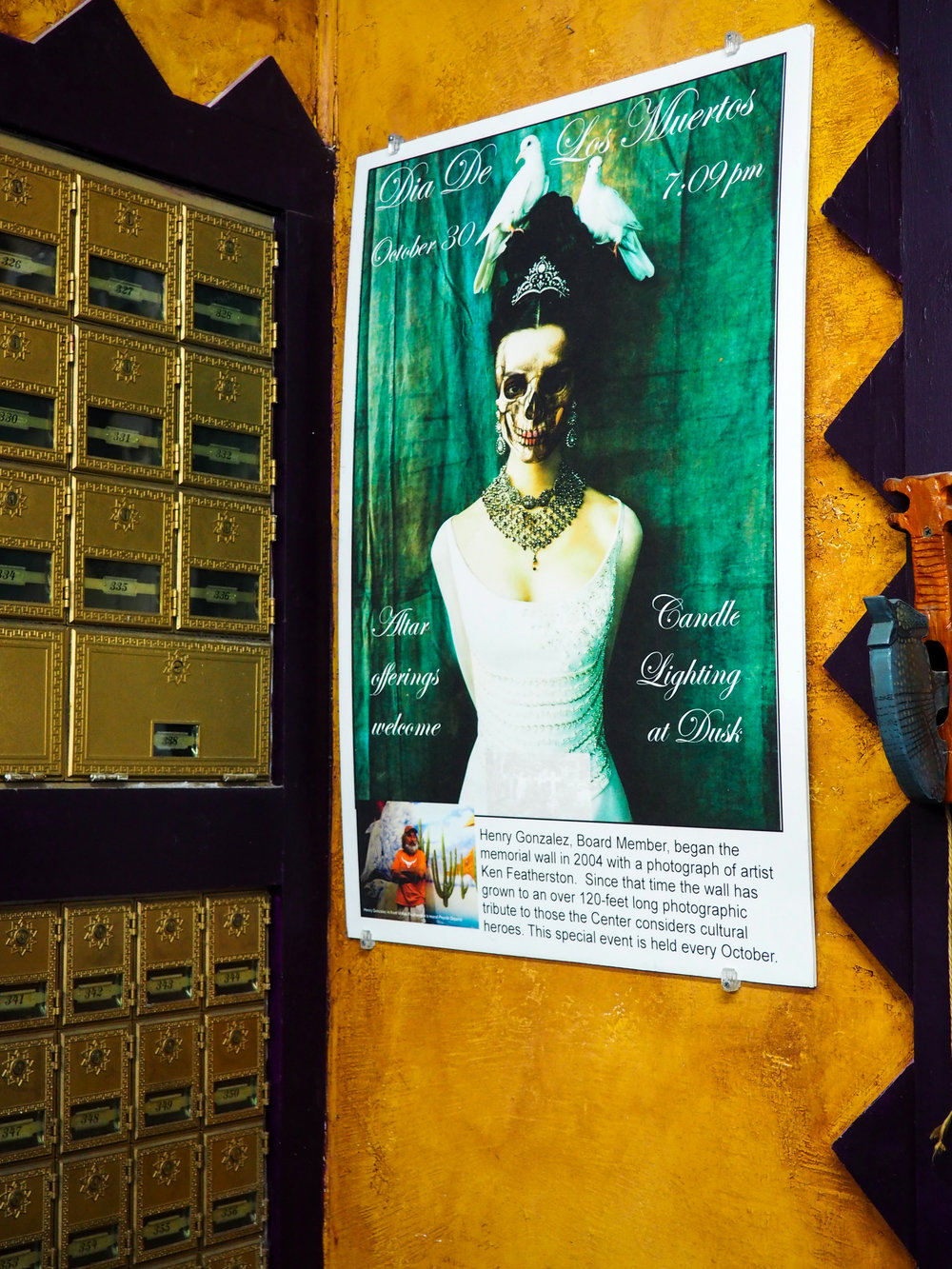 Celebrating the Day of the Dead at the South Austin Museum of Pop Culture.