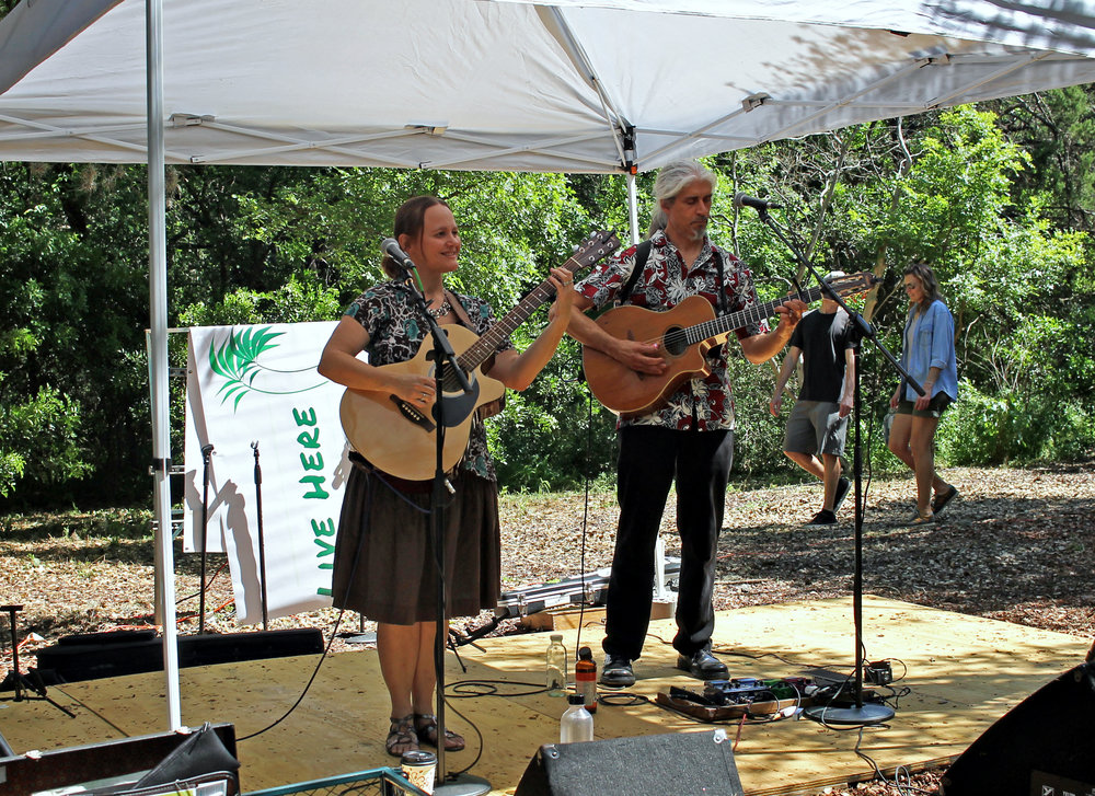 The Better Halves performing at Zilker Garden Festival.