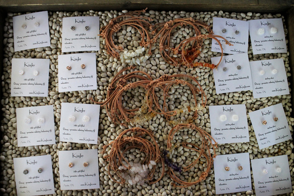 Kiyo Joy jewelry found at the Zilker Garden festival.