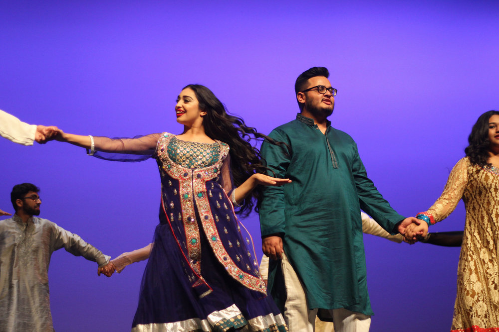 Musical and dance performances highlighted elements of both American and Desi culture.