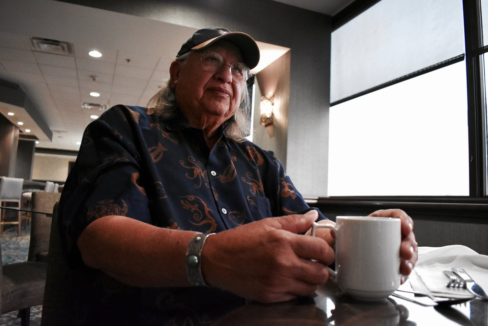 Amado Peña, Mexican and Native American artist, shares his journey to find his home over a cup of coffee.