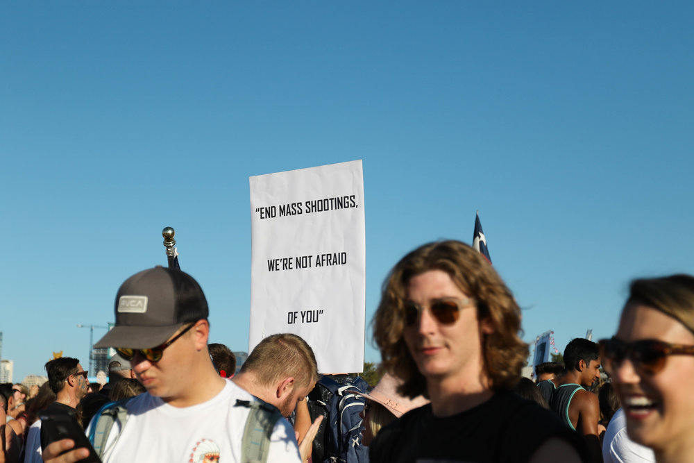 A strong message stands out amongst the crowd of famed flags that are brought to ACL.