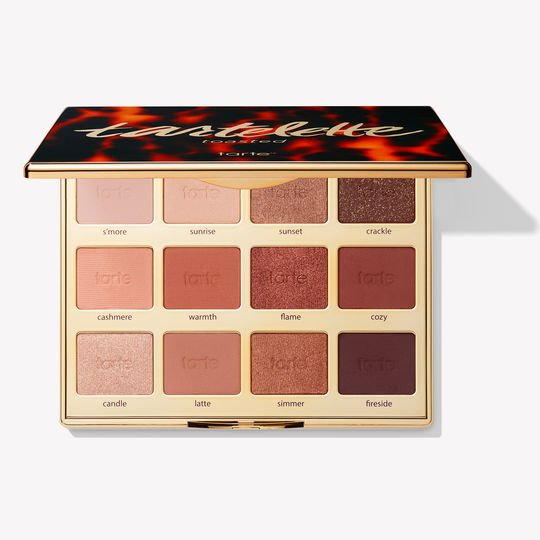 "Toasted Eyeshadow Palette by Tarte Cosmetics - If you prefer neutrals, this palette is perfect for you. It includes gorgeous copper shades and a mix of matte and shimmery eyeshadows. This palette will definitely become your new go-to. With shade names like ""fireside"" and ""simmer"", this palette will keep the heat going through these colder months."