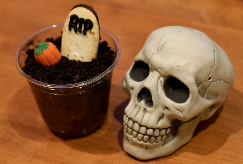 Graveyard dirt cups put a spooky twist on a childhood classic.