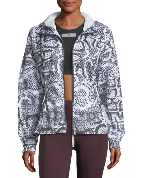 Adidas by Stella McCartney Run Zip-Front Printed Performance Jacket ($180.00) - This jacket is sporty perfection. Throw it on over leggings and an athletic tee to stay warm on the way to class or stash it in your gym bag for the ideal post-workout cover-up. The basic color scheme and relaxed fit keep things fun and casual.