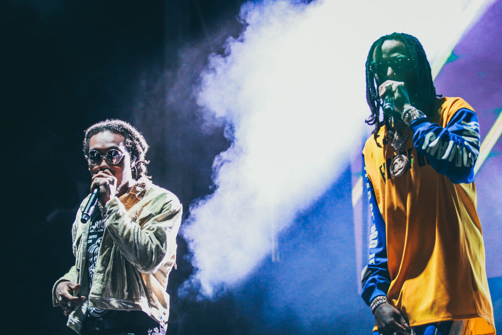 "The Migos' set was surrounded with the buzz about their new single ""MotorSport."""
