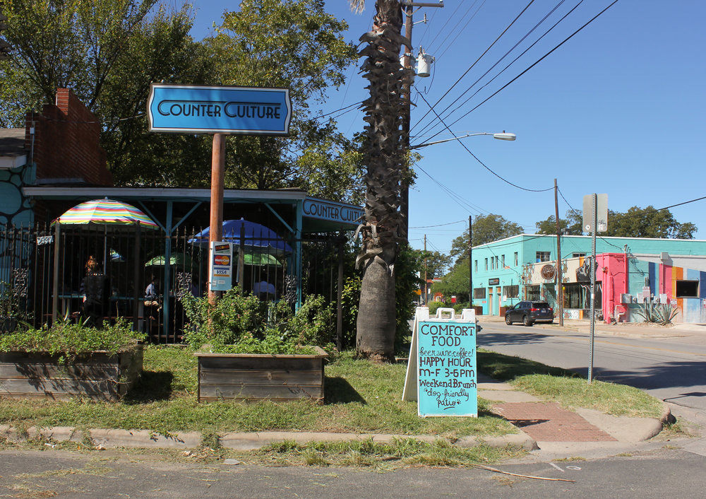 Counter Culture is located on the corner of East Cesar Chavez and Clara Street.