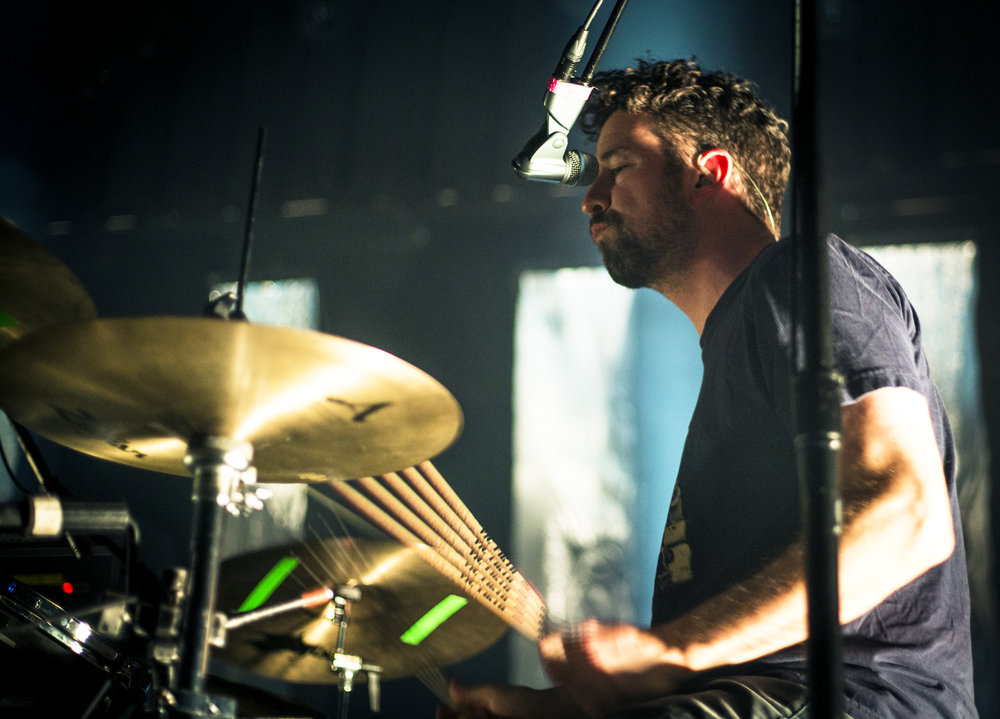 Japandroids' David Prowse stimulated crowds with fierce, solid beats and backup vocals.