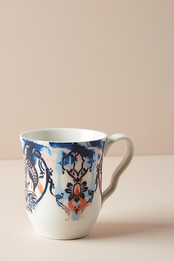 French Sapphire Mug ($12) - For a more casual occasion, this fun printed mug from boho brand Anthropologie will do just the trick. Blue and orange hues stand out against a pretty pattern for an overall look that will surely stand out in your cupboard.