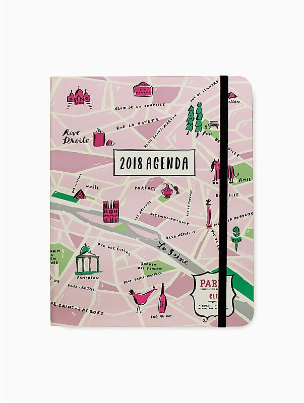 City of Lights 17-month Large Agenda ($36) - Liven up your backpack and desk with a cute pattern of Paris in addition to keeping track of schoolwork. Planning for exams won't be nearly as stressful when you have this agenda to look at!