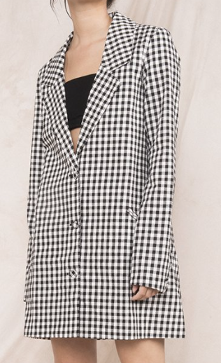 "Alexis - Gingham Thing Blazer ($68) - My love for the cold makes me very impractical when it comes to winter wear. Since I usually stray away from heavy coats, this long blazer is the perfect jacket. With its neutral colors, the gingham piece is a fun way to add pattern to any outfit while channeling your inner Cher Horowitz. My closet is also in desperate need of ""adult clothes"" and this blazer can easily go from casually stylish to ""I'm kinda professional."""
