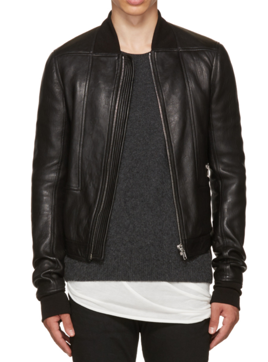 "Rylan - Rick Owens Black Leather Geo Harness Bomber Jacket ($1927) - The term ""winter coat"" means something different for us Texans: I'm fine reaching for a lightweight leather jacket and maybe a sweater if I need it when the weather gets extra chilly. This sheep leather bomber from Rick Owens Fall/Winter '16 is the latest addition to my collection and it's quickly becoming my favorite piece. I love this one in particular because it's not quite as crazy as a lot of Rick pieces, so you can wear it with a wider variety of styles without much trouble. The hidden pockets on the sleeve and back make a nice stash for small winter time goodies like gloves or lip balm."